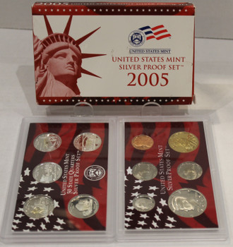 2005 UNITED STATES MINT SILVER PROOF SET
