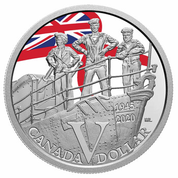 2020 SPECIAL EDITION SILVER DOLLAR PROOF SET - 75TH ANNIVERSARY OF V-E DAY: ROYAL CANADIAN NAVY