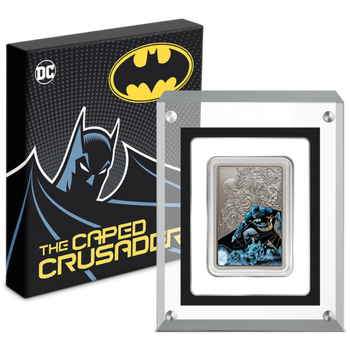 THE CAPED CRUSADER™ - BATMAN™ 1oz Silver Coin