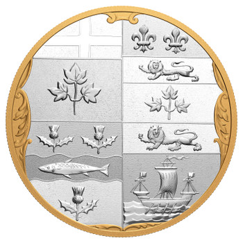 2020 $100 FINE SILVER COIN - ARCHIVAL TREASURES THE ARMORIAL BEARINGS OF THE DOMINION OF CANADA