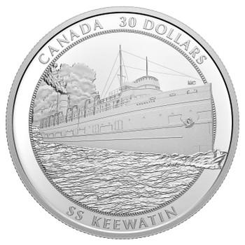2020 $30 FINE SILVER COIN SS KEEWATIN