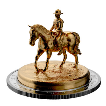 2020 $100 FINE SILVER SCULPTURE COIN THE RCMP MUSICAL RIDE