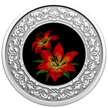 2021 $3 FINE SILVER COIN FLORAL EMBLEMS OF CANADA – SASKATCHEWAN: WESTERN RED LILY