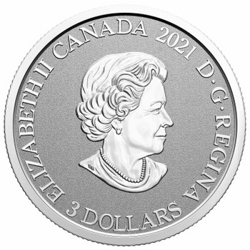 2021 $3 FINE SILVER COIN FLORAL EMBLEMS OF CANADA – PRINCE EDWARD ISLAND: LADY'S SLIPPER