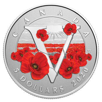2020 $5 FINE SILVER COIN MOMENTS TO HOLD: REMEMBRANCE DAY