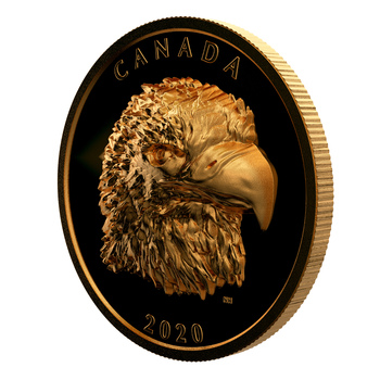 2020 $250 PURE GOLD COIN PROUD BALD EAGLE (E-TRANSFER ONLY)