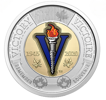 2020 COLOURED TOONIE - 75TH ANNIVERSARY OF THE END OF THE SECOND WORLD WAR