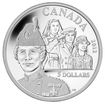 SALE - 2012 $5 SILVER COIN - GEORGINA POPE