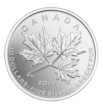 SALE - 2011 $10 1/2 OZ FINE SILVER MAPLE LEAF FOREVER