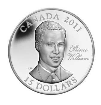 SALE - 2011 $15 ULTRA HIGH RELIEF STERLING SILVER COIN - H.R.H. PRINCE WILLIAM OF WALES