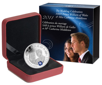 SALE - 2011 $20 SILVER COIN - WEDDING CELEBRATION - PRINCE WILLIAM & CATHERINE MIDDLETON