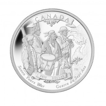 SALE - 2013 SILVER DOLLAR - 250TH ANNIVERSARY OF THE END OF THE SEVEN YEARS WAR