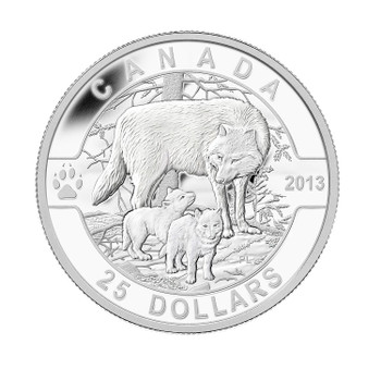 SALE - 2013 $25 FINE SILVER O CANADA SERIES - THE WOLF