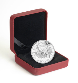 SALE - 2013 $20 .9999 FINE SILVER COIN - THE BEAVER - QUANTITY SOLD : 8495