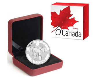 SALE - 2013 $10 FINE SILVER COIN O CANADA COIN SERIES - HOCKEY