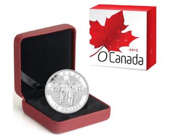 SALE - 2013 $10 FINE SILVER COIN O CANADA COIN SERIES - HOCKEY