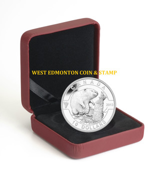 SALE - 2013 $10 FINE SILVER COIN O CANADA COIN SERIES - THE BEAVER