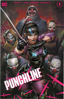 Limited to 500 copies each to just 20 stores across the globe, awesome Derrick Chew cover is one of 3 Team Variants for Punchline #1! Only 2 shops in Canada has this cover and West Edmonton Coin & Stamp/Edmonton Comics is one of them!