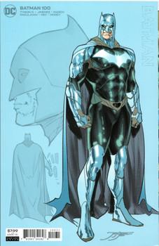 """Batman #100 1:25 """"design"""" variant cover by Jorge Jimenez."""
