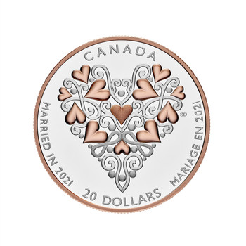 2021 $20 FINE SILVER BEST WISHES ON YOUR WEDDING DAY