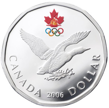 SALE - 2006 STERLING SILVER - LUCKY LOONIE
