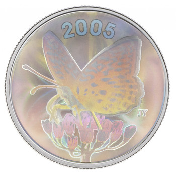 SALE - 2005 GREAT SPANGLED FRITILLARY BUTTERFLY COIN (COIN #4)