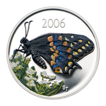 SALE - 2006 BUTTERFLY SHORT TAILED SWALLOWTAIL 50-CENT COIN