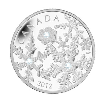 SALE - 2012 FINE SILVER $20 COIN - HOLIDAY SNOWSTORM - QUANTITY SOLD : 4886