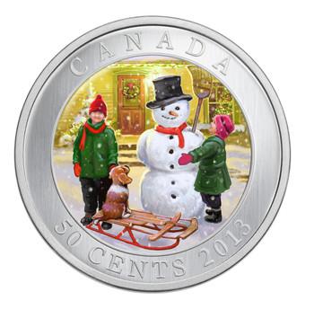 SALE - 2013 50-CENT COIN - LENTICULAR SNOWMAN