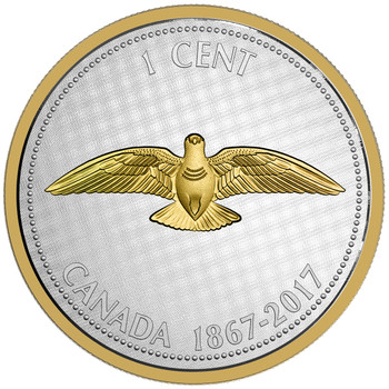 SALE - 2017 5-OUNCE FINE SILVER COIN - BIG COIN SERIES ALEX COLVILLE DESIGNS: 1 CENT