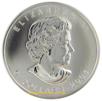 SALE - 2004 SILVER MAPLE LEAF COLOURED COIN QUANTITY SOLD: 26,763
