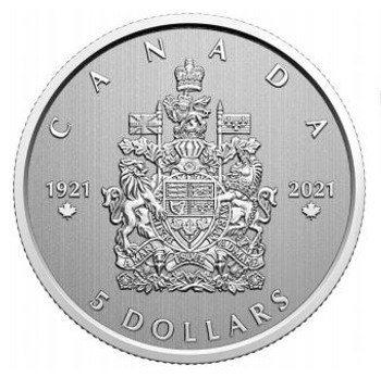2021 $5 FINE SILVER COIN MOMENTS TO HOLD: ARMS OF CANADA