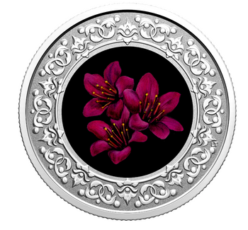 2021 $3 FINE SILVER COIN FLORAL EMBLEMS OF CANADA - NUNAVUT: PURPLE SAXIFRAGE