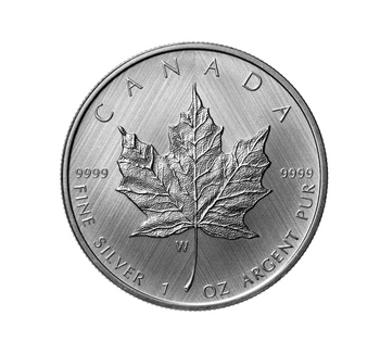 2021 $5 FINE SILVER COIN SILVER MAPLE LEAF: W MINT MARK