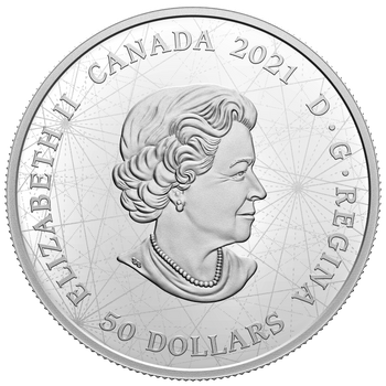 2021 $50 FINE SILVER COIN LOST THEN FOUND: CHAMPLAIN AND THE ASTROLABE