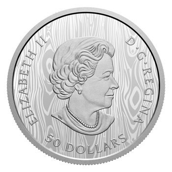 2021 $50 FINE SILVER COIN MULTILAYERED COUGAR