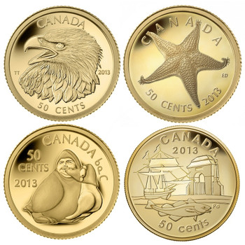 1/25 oz. Pure Gold 4-coin Set - Mintage: 1250 (2013)