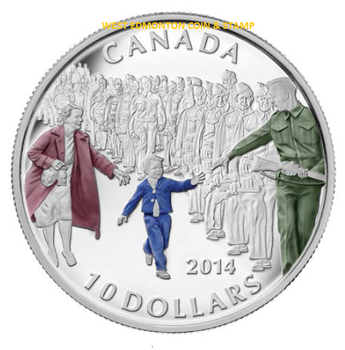 SALE - 2014 $10 FINE SILVER COIN - WAIT FOR ME DADDY
