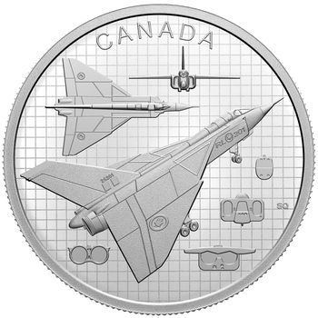 2021 $20 FINE SILVER COIN THE AVRO ARROW