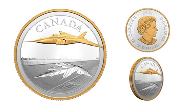 2021 $50 FINE SILVER COIN THE AVRO ARROW