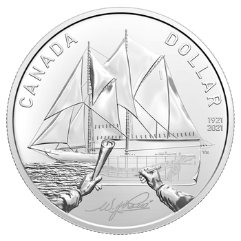 2021 SPECIAL EDITION SILVER DOLLAR SET 100TH ANNIVERSARY OF BLUENOSE