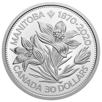 2020 $30 FINE SILVER COIN MANITOBA 150: UNITED IN CELEBRATION