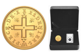 2021 $200 PURE GOLD COIN –RELICS OF NEW FRANCE:  LOUIS XIV 30 DENIERS – 2-COIN SET