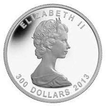 2013 $300 PURE PLATINUM COIN - 25TH ANNIVERSARY OF THE PML (E-TRANSFER ONLY)