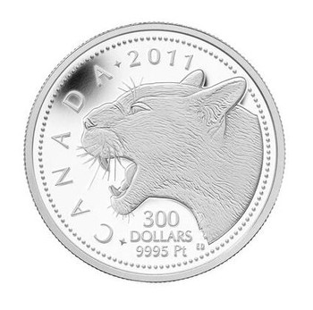 2011 $300 COUGAR - PURE PLATINUM COIN (E-TRANSFER ONLY)