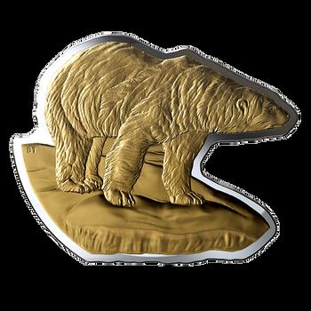 2020 $50 FINE SILVER COIN REAL SHAPES: THE POLAR BEAR