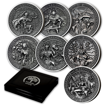 2016 9-COIN SET - THE NORSE GODS (COOK ISLANDS)