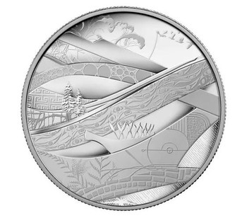 2010 CANADA 5 OZ FINE SILVER $50 COIN - LOOK OF THE GAMES