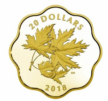 2018 $20 FINE SILVER COIN – ICONIC MAPLE LEAVES (MC)