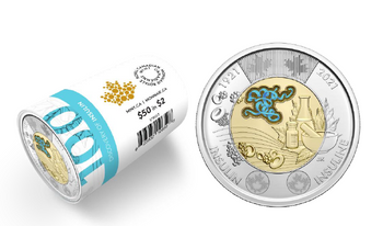 2021 $2 SPECIAL WRAP ROLL – 100TH ANNIVERSARY OF THE DISCOVERY OF INSULIN (COLOURED)